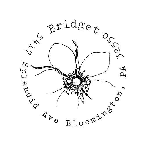زفاف - Custom Address Stamp -  - Bridget Design- Thank You, Wedding, Birthday Gift, Housewarming