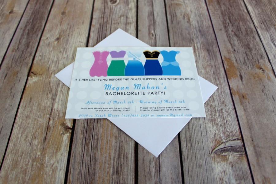 زفاف - Customizable Disney Bachelorette Party Invitation
