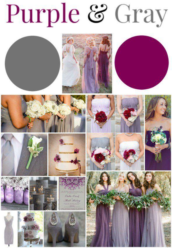 Wedding Theme - Purple & Gray Wedding Ideas #2577007 - Weddbook