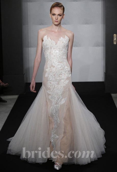 Mark zunino for kleinfeld 2013 style mzbf65 strapless for Kleinfeld wedding dresses sale
