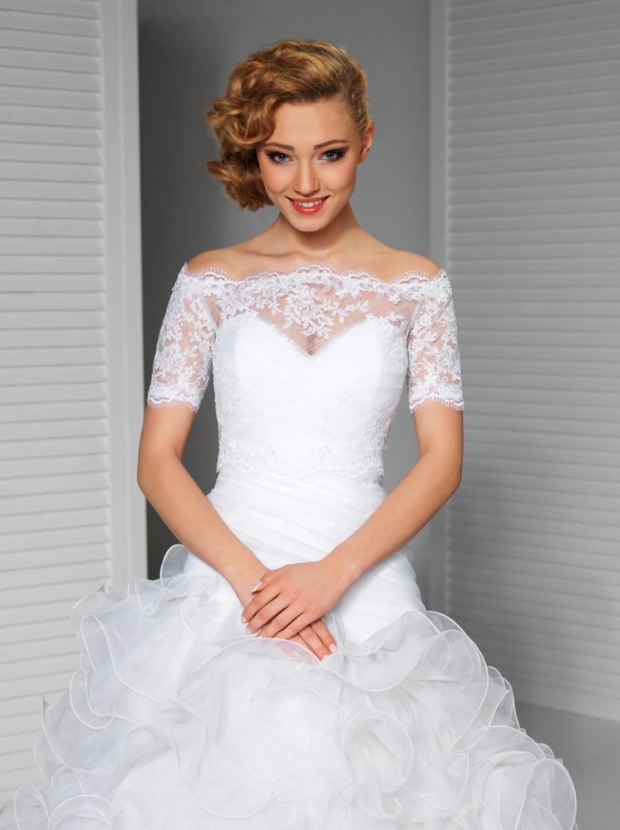 Mariage - Lace Bridal Topper in Ivory or White