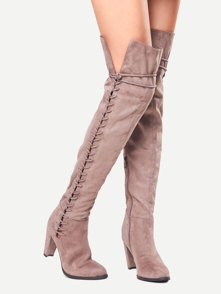 Mariage - Over The Knee Lace Up Boots
