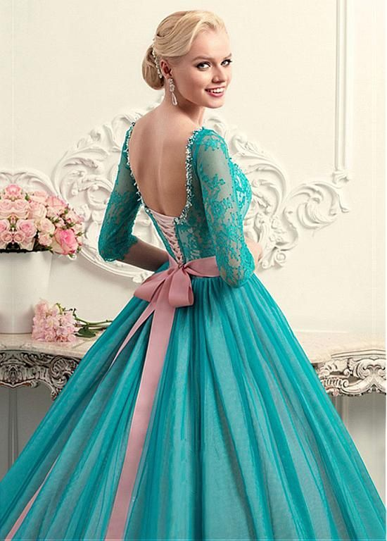 169.99] Glamorous Tulle & Lace Scoop Neckline Ball Gown Wedding ...