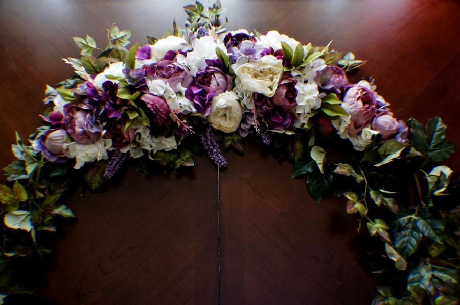 Mariage - Wedding Arch Swag, Wedding Garland, Large Wedding Swag, Church Swag, Rustic Wedding Swag, Arbor Swag, Church Wedding Swag