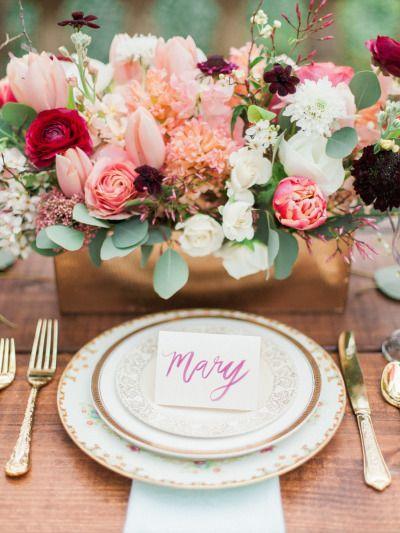Свадьба - Romantic Garden Party Wedding Inspiration