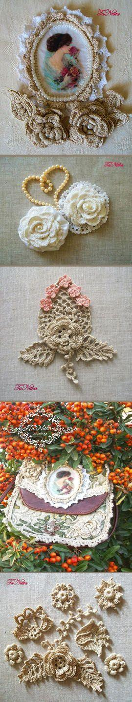 Wedding - knitted flowers