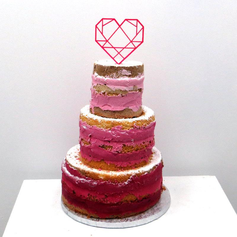 Mariage - Cake topper - Herz - Wedding