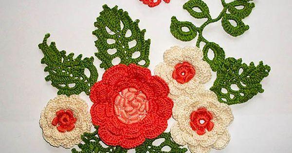 Hochzeit - knitted flowers