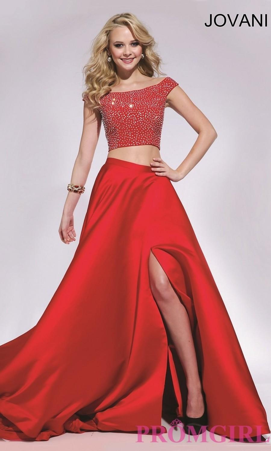 Two Piece Long Jovani Prom Dress Discount Evening Dresses 2577296