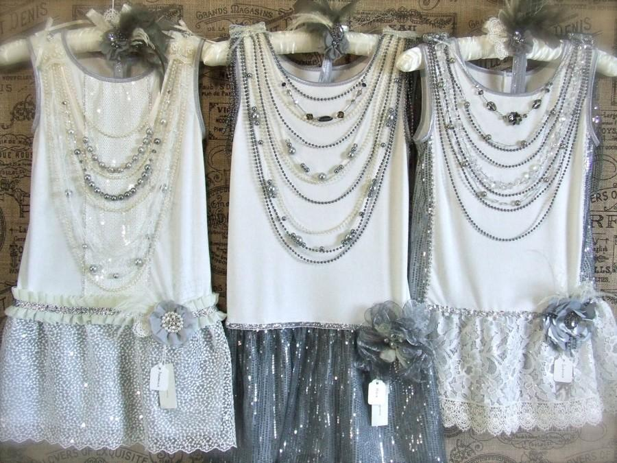 Mariage - OOAK Made-to-Order Formal/Wedding Gatsby Era Ensembles for Girls, teen sizing