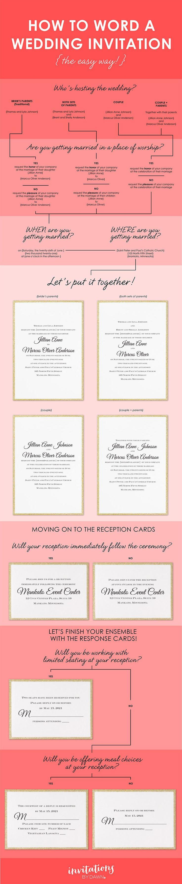 Mariage - How To Word Your Wedding Invitations