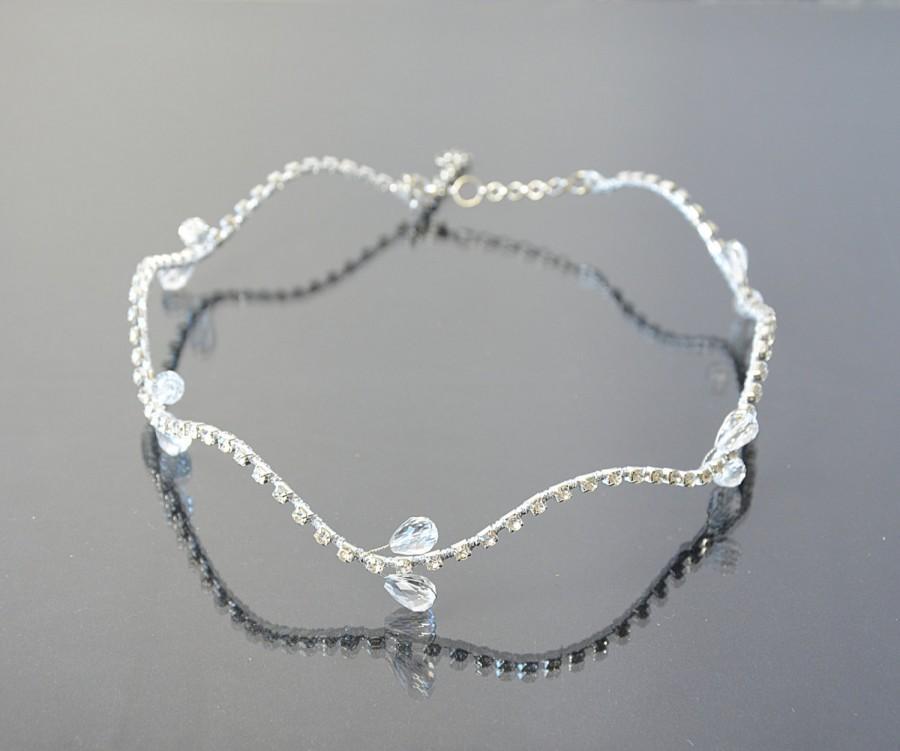 زفاف - Bridal Tiara, Crystals Rhinestone Crown, Silver Tone Bridal Headband, Wedding Hair Accessories, Bridal Halo, Prom Hair  Accessories