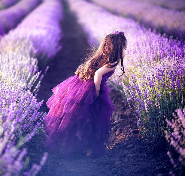 Свадьба - New 2016 Purple Dream Flower Girl Dress, First communion dress - if made in ivory or white