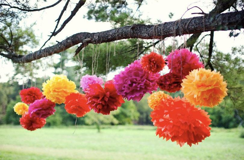 Tissue Paper Pom Poms Mexican Party Decorations Mexican Fiesta