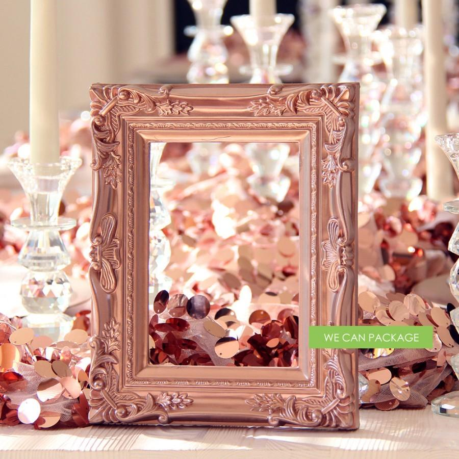 ROSE GOLD Picture Frame Vintage Shabby Chic Photo 5\