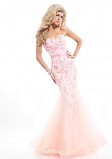 Wedding - Appliques Pink Blue Beading Sleeveless Lace Up Tulle Sweetheart Floor Length
