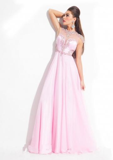 Hochzeit - Cap Sleeves Appliques Blue Ruched Black Chiffon Pink Floor Length Straps