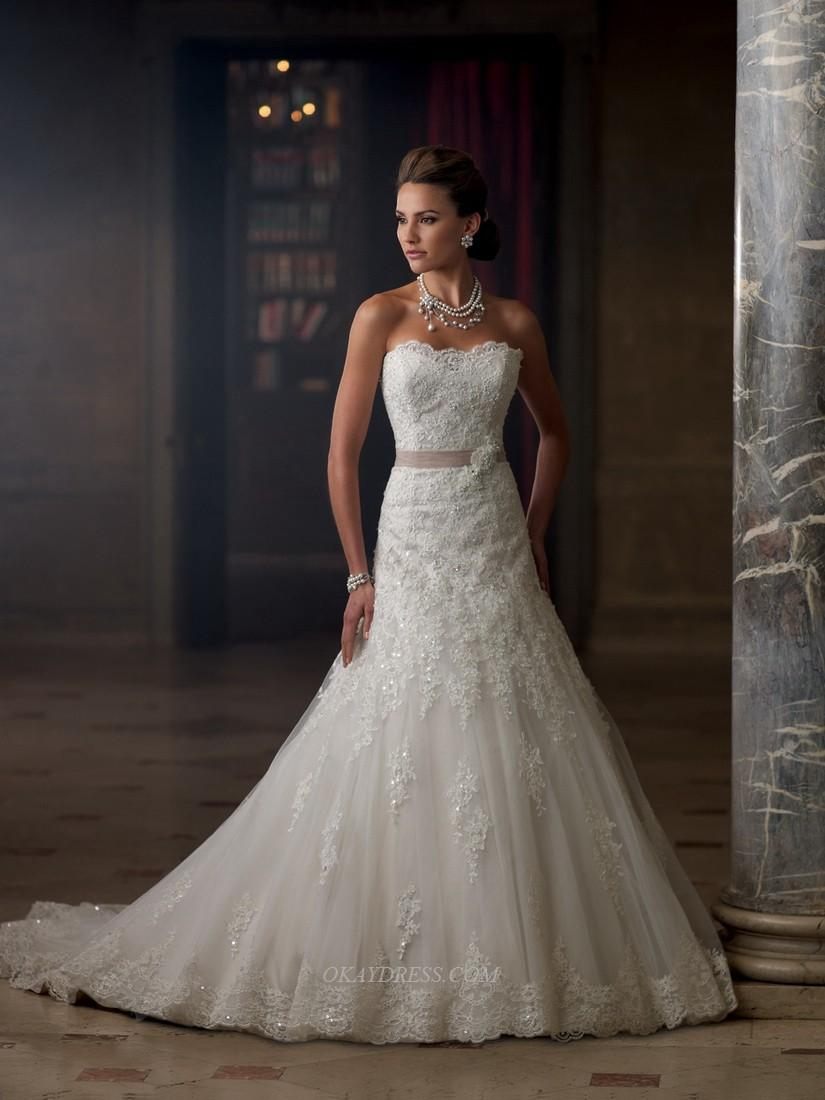 Mariage - David Tutera for Mon Cheri 213261 Charlene Bridal Gown (2013) (MC13_213261charleneBG) - Crazy Sale Formal Dresses