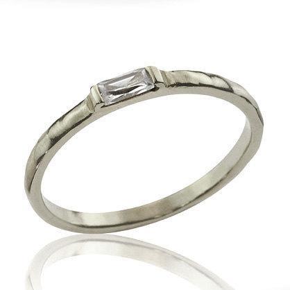 Wedding - Diamond Wedding Band, Baguette Diamond Ring, Unique Diamond Ring, Petite Ring, Baguette Engagement Ring, Diamond Ring, wedding Band