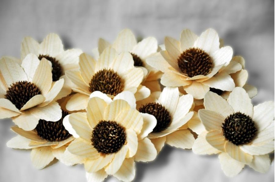 Свадьба - Sunflowers - Wooden Flowers - Decorations