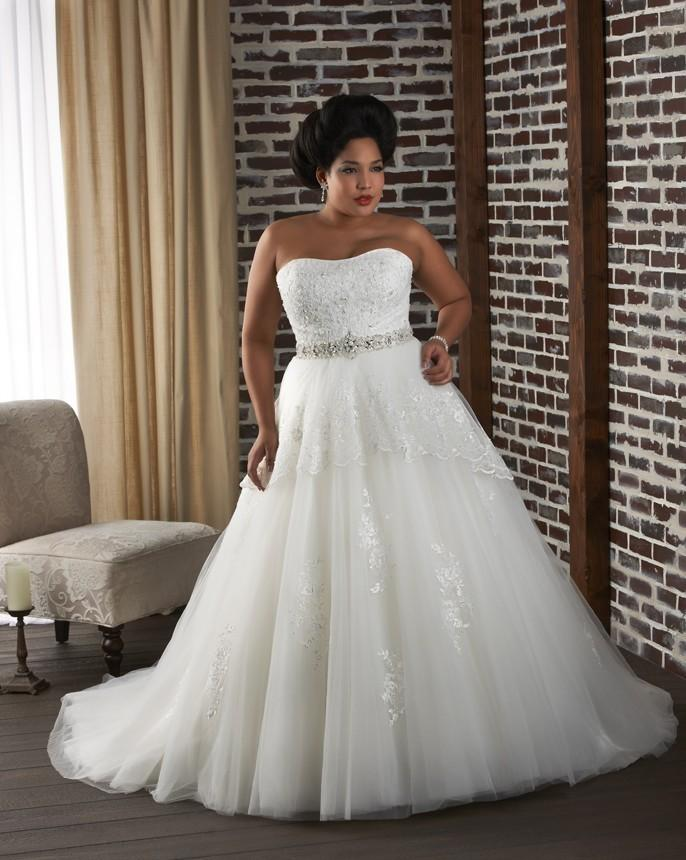 Bonny Unforgettable 1322 Plus Size Wedding Dress Crazy Sale Bridal