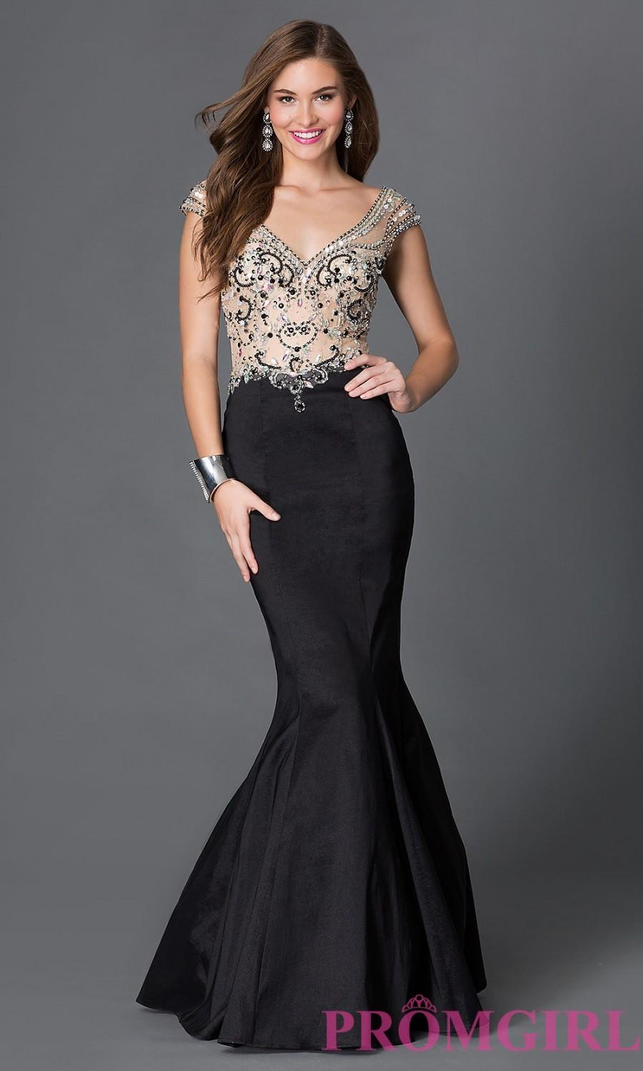 7e91b88ba477 V Neck Full Skirt Prom Dress - raveitsafe