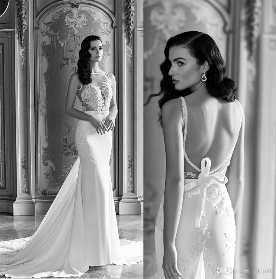 Sheer sexy 2016 wedding dresses vintage lace backless for Vintage backless wedding dresses