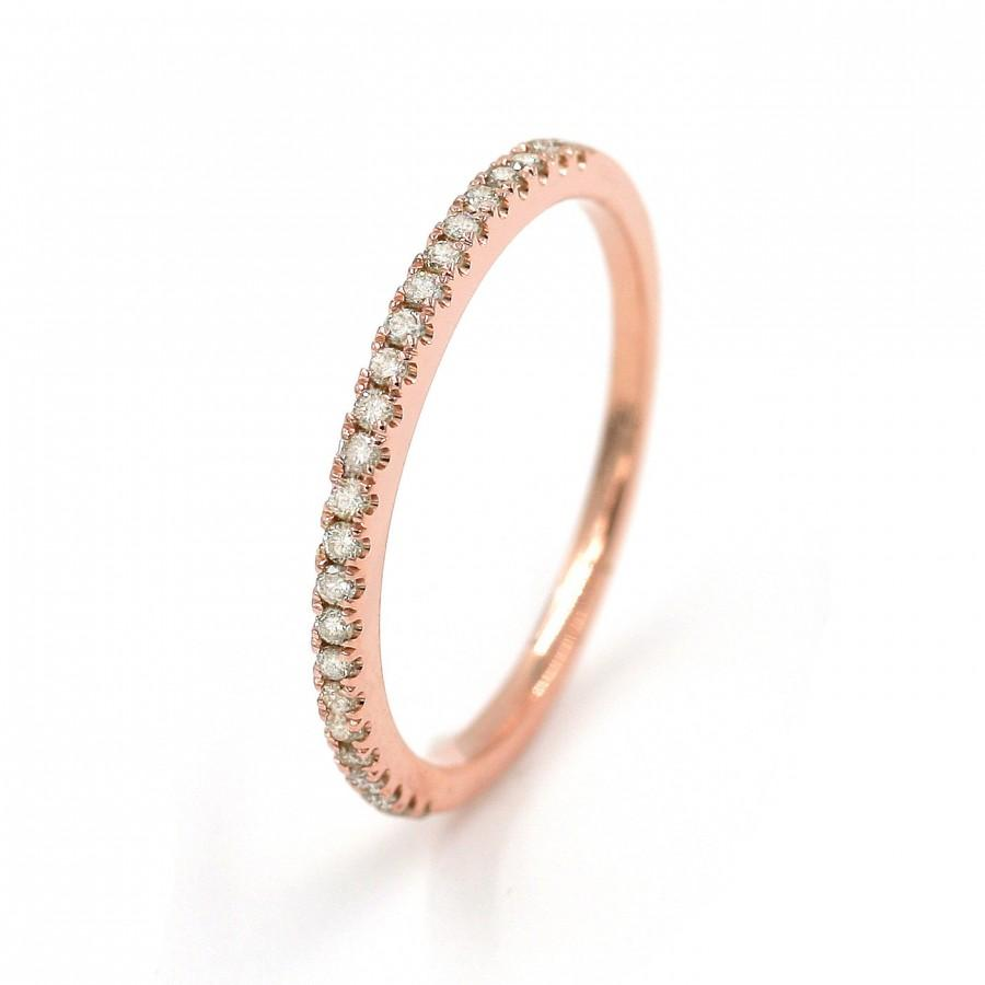 Wedding Bands Diamond 14k Solid White Gold Rose Yellow Ring 017 Ct Rings