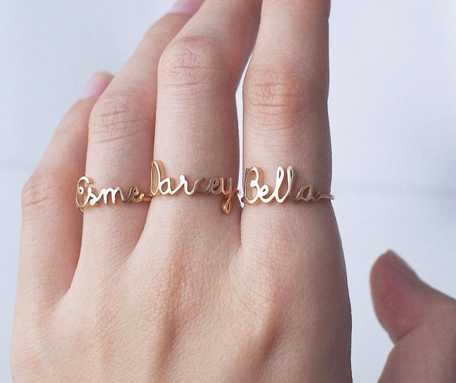 20% OFF Custom Name Ring - Personalized Name Ring - Baby Name Ring ...