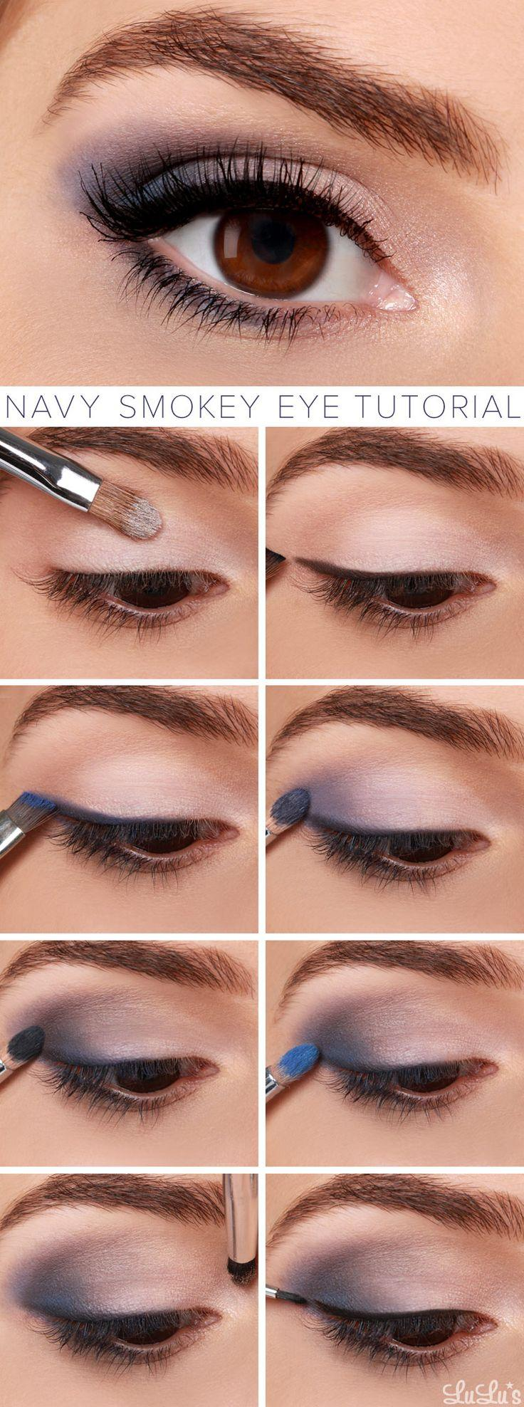Свадьба - Lulus How-To: Navy Smokey Eye Makeup Tutorial
