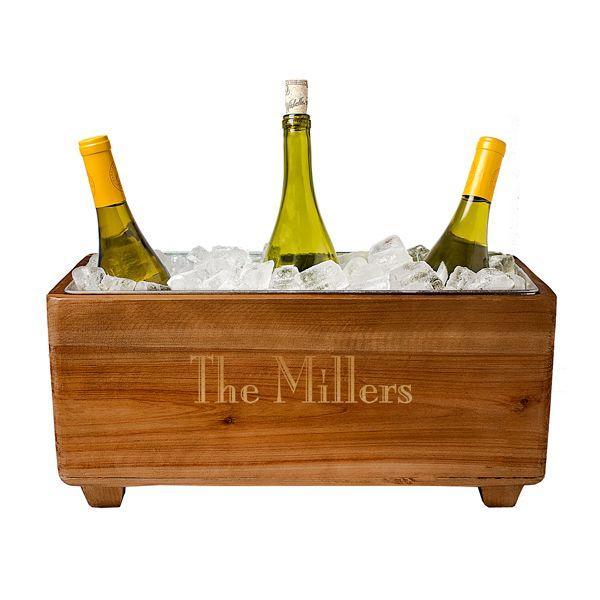 Hochzeit - Personalized Wooden Wine Trough