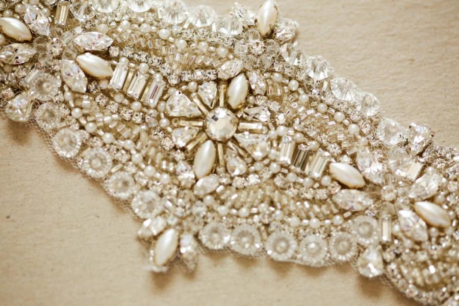 زفاف - Wedding dress belts and sashes  - Clara11 inches (Made to Order)