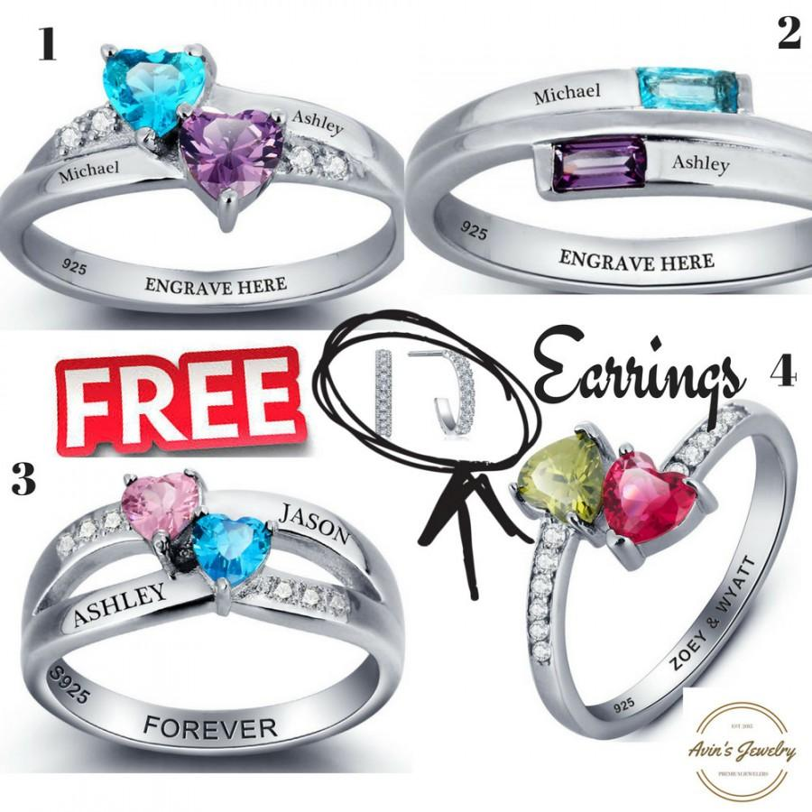 d49e75936a9fb Engraved Promise Ring For Her, Couple Ring, His And Her Promise Ring ...