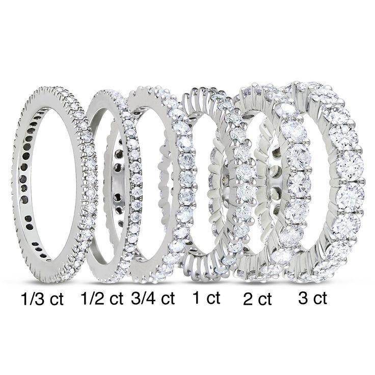 Mariage - 14k White Gold 1/3ct To 3ct TDW Diamond Eternity Ring (G-H, I1-I2)