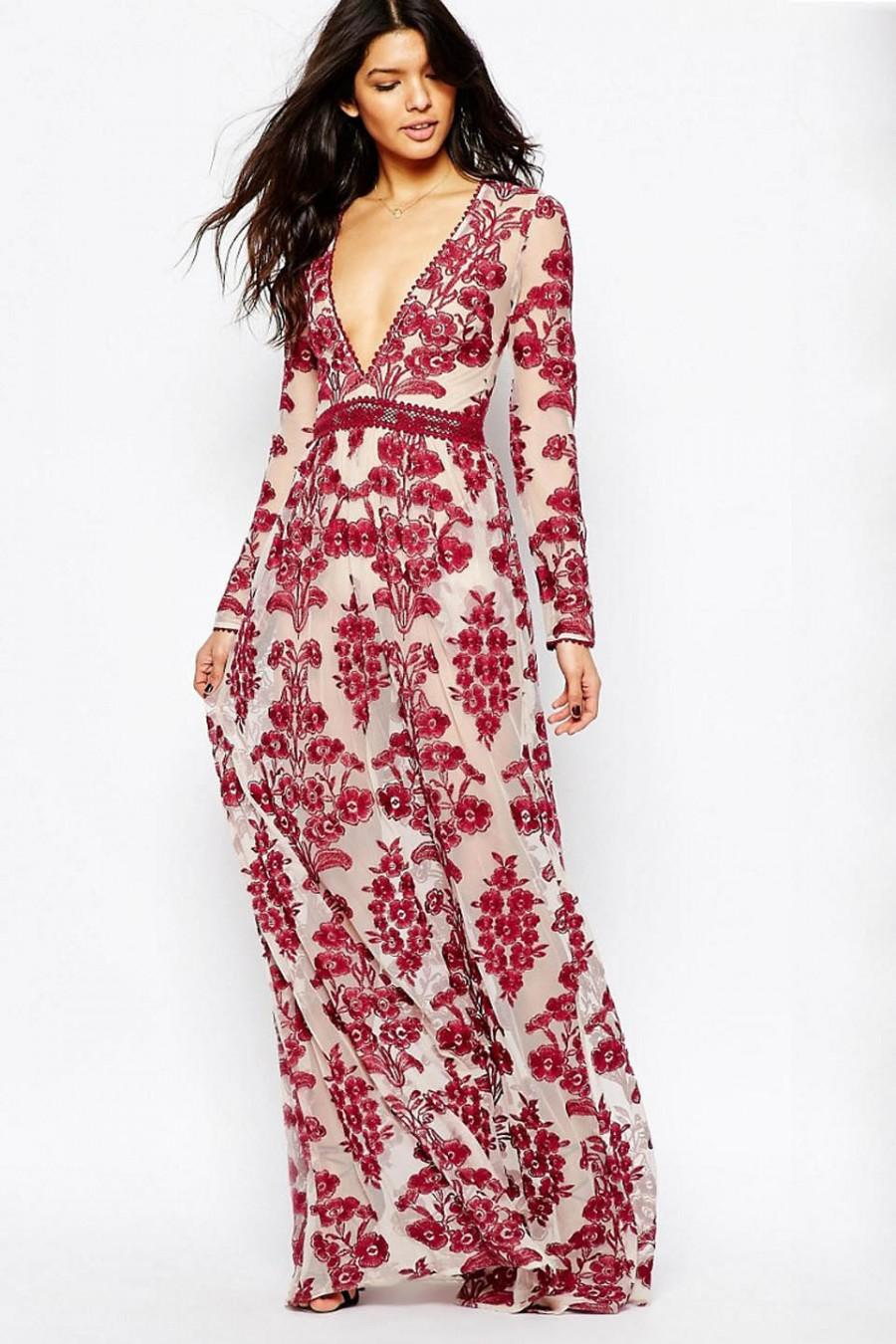 990a06a1a9a FOR LOVE   LEMONS TEMECULA MAXI DRESS IN RED  2578539 - Weddbook