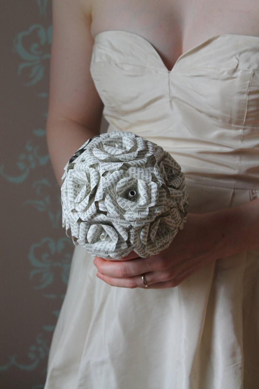 Свадьба - Paper flower bridesmaid bouquet