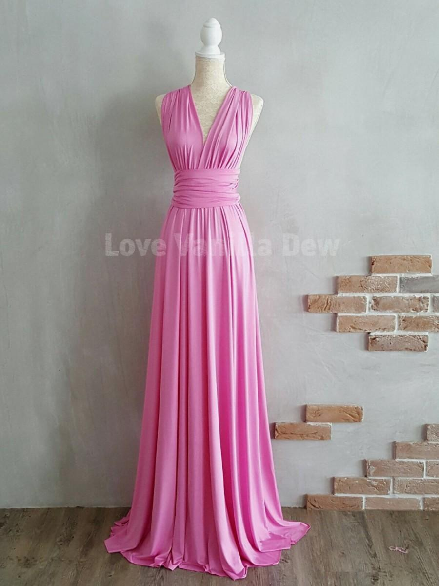 Свадьба - Bridesmaid Dress Infinity Dress Violet Floor Length Maxi Wrap Convertible Dress Wedding Dress