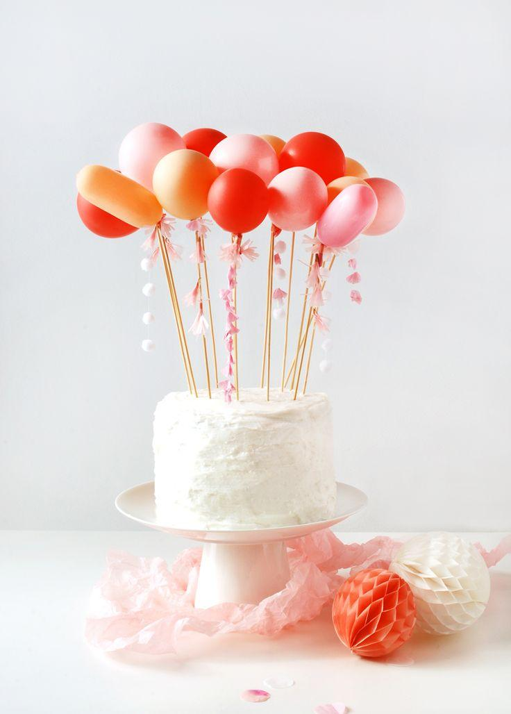 Wedding - Craft Tutorial: DIY Tassel Balloon Cake Topper