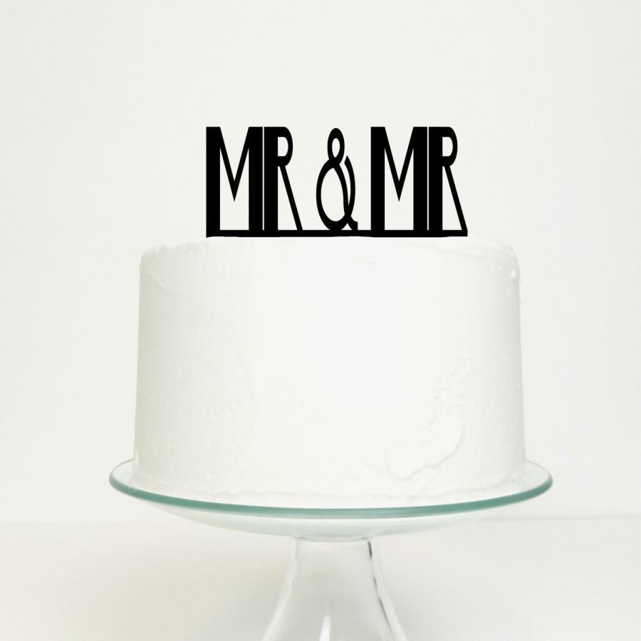 Wedding - Gay Wedding / Civil Partnership Cake Topper - Mr & Mr Design for Men