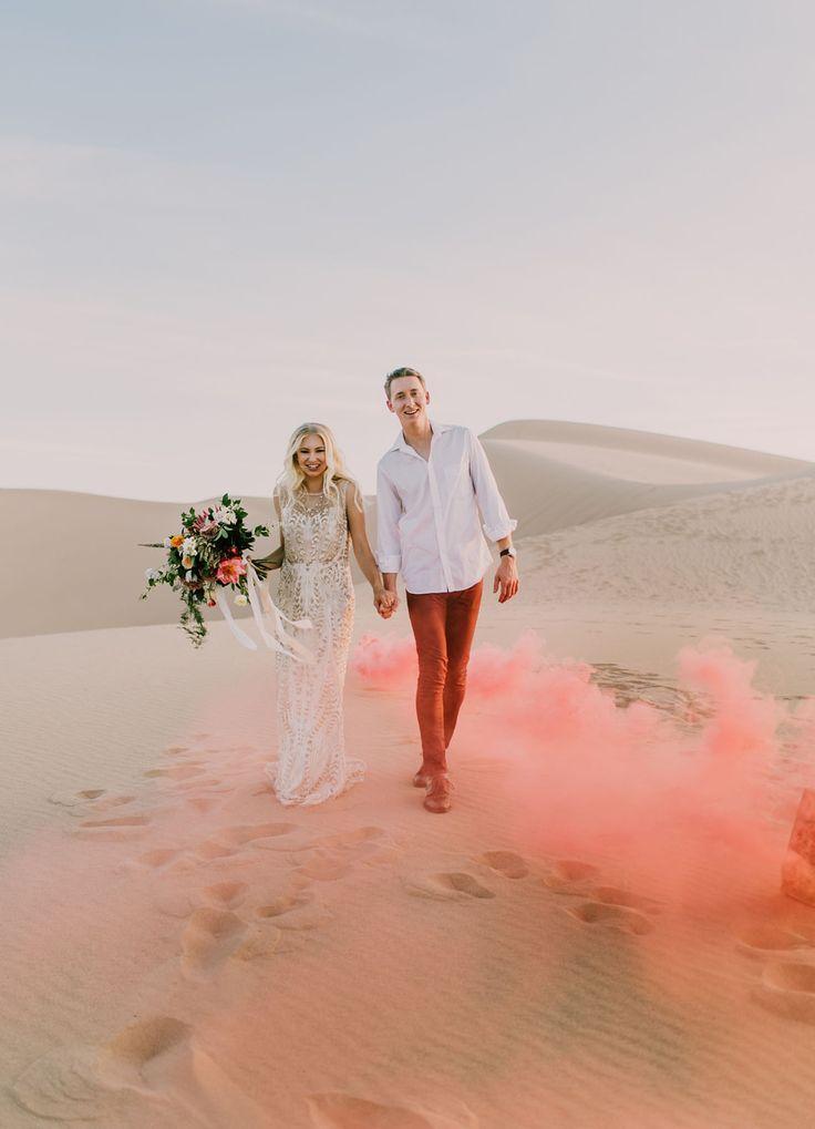 Wedding - Modern Desert Elopement Inspiration In The Sand Dunes