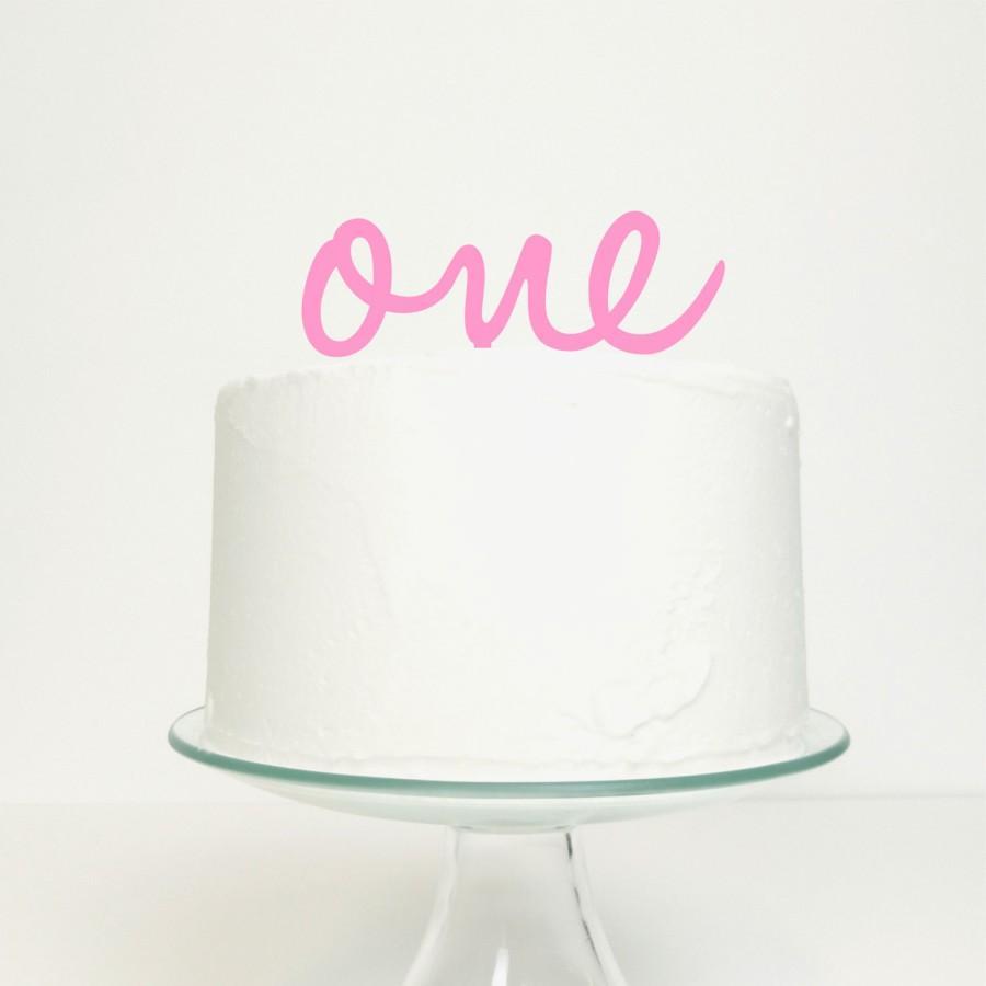 Свадьба - One 1st Baby Birthday Number Word Cake Topper - Birthday Celebration Party