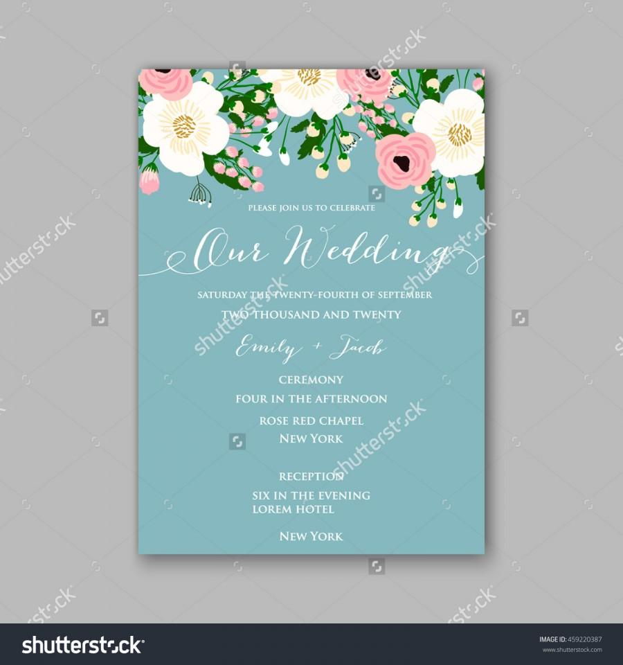 Wedding card or invitation with abstract floral background greeting wedding card or invitation with abstract floral background greeting postcard in grunge or retro vector elegance pattern with flowers roses floral stopboris Choice Image