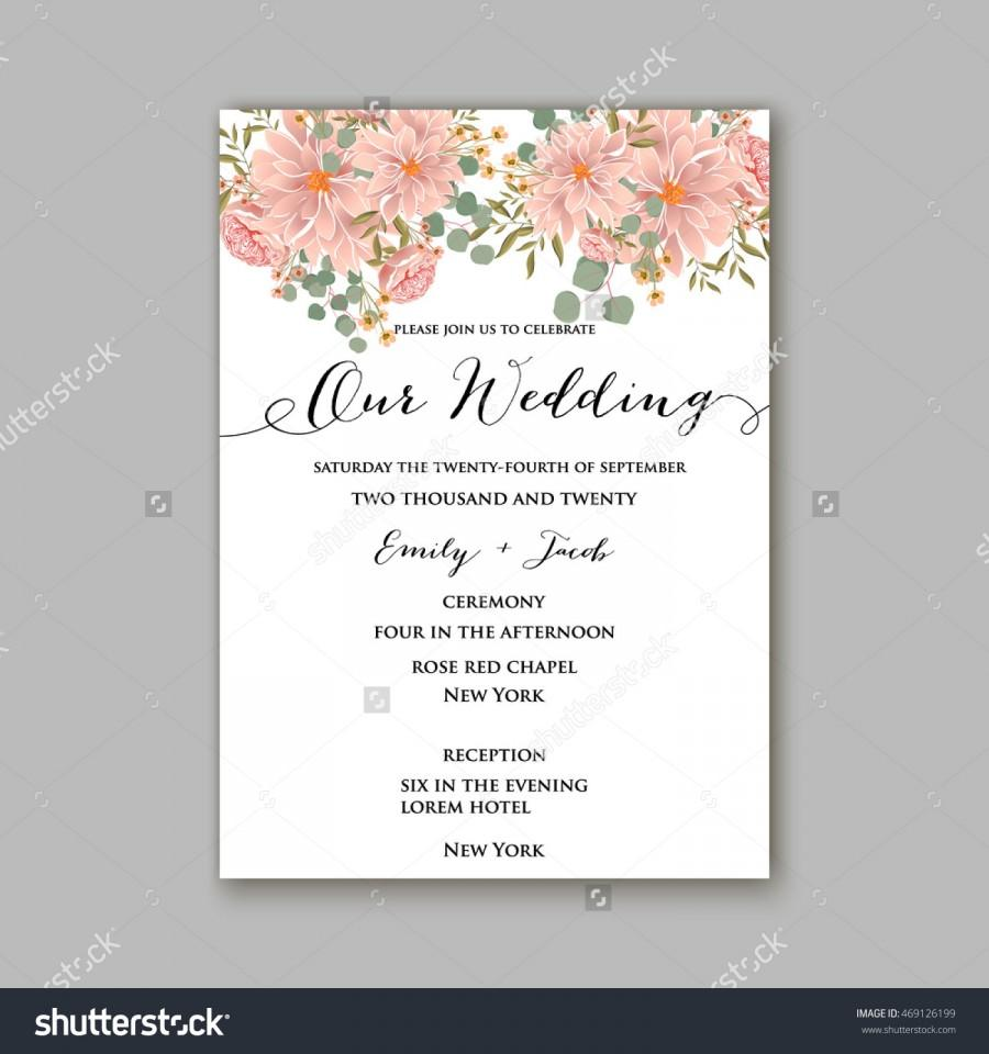 Love Quotes Wedding Invitation Beautiful Wedding Floral Vector Invitation Samplecard Design