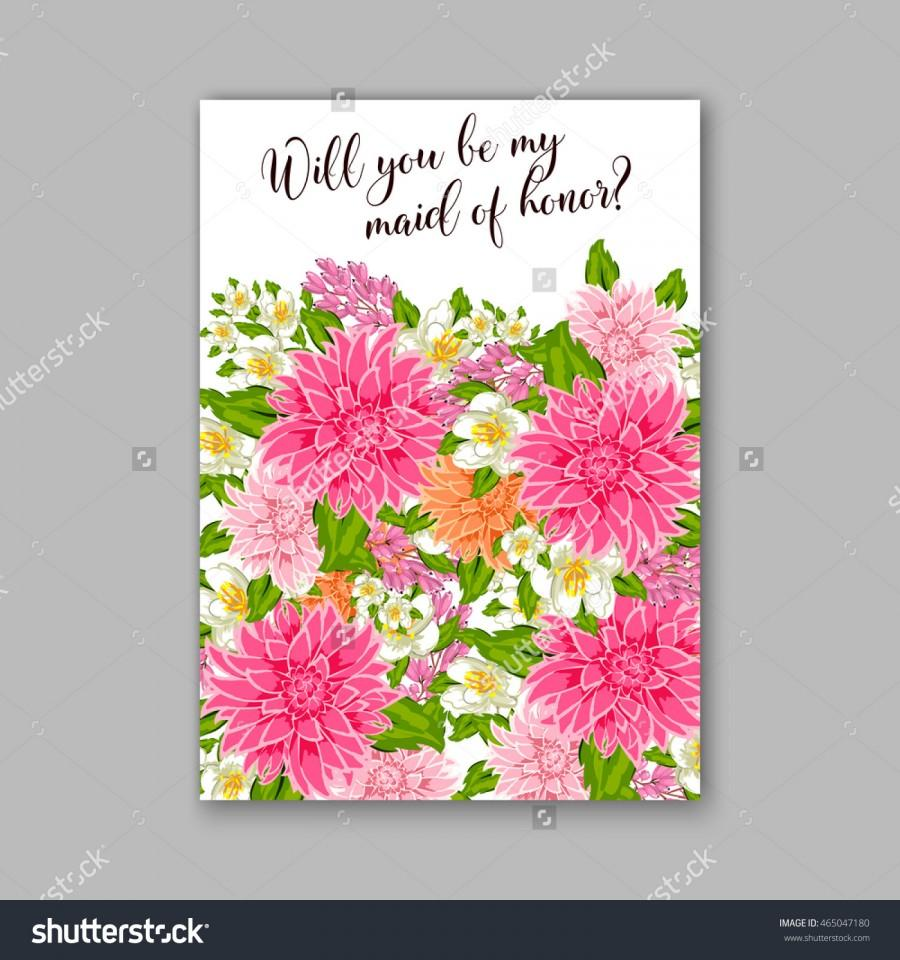 Wedding Invitation Or Card With Tropical Floral Background – Flower Valentine Card