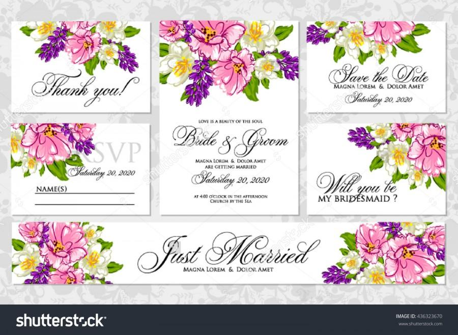 Свадьба - Wedding invitation, thank you card, save the date cards. Wedding set. RSVP card