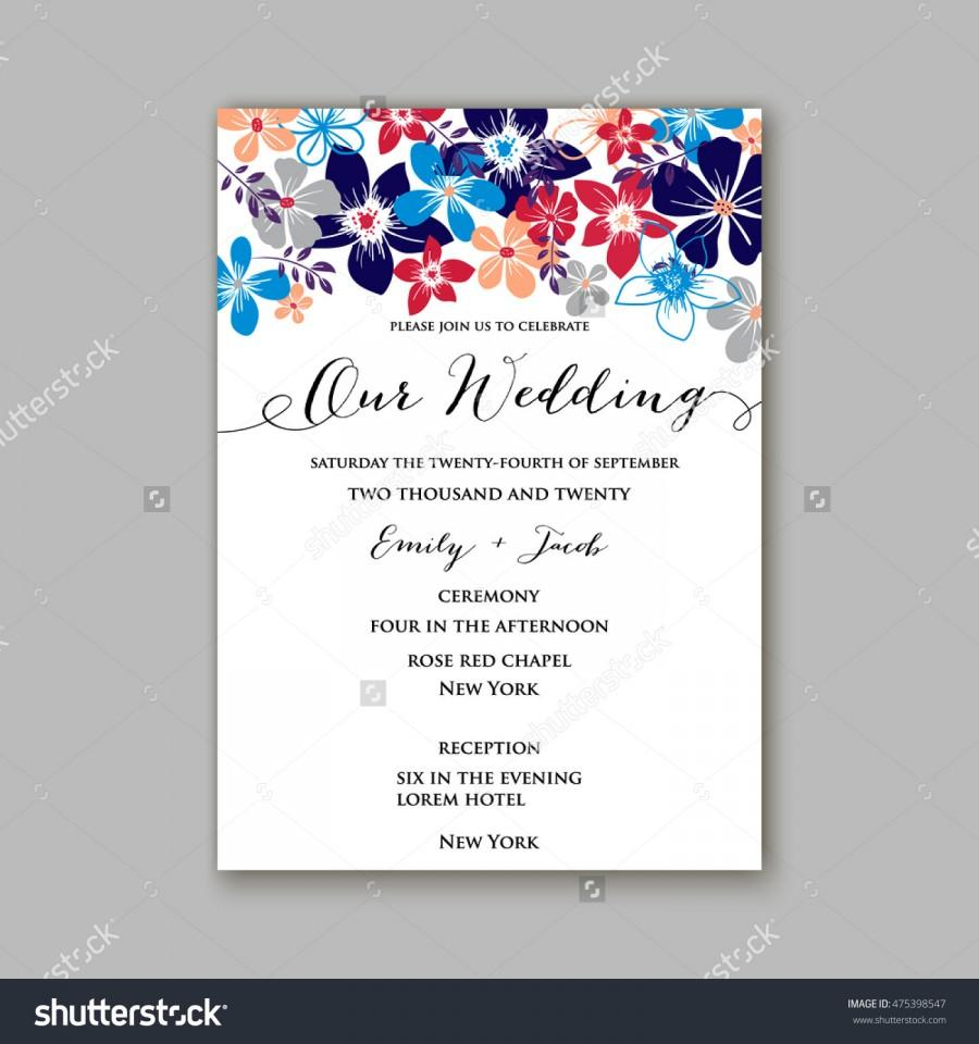 Postcard invitation templates akbaeenw wedding invitation template or card with tropical floral background postcard invitation templates stopboris Images