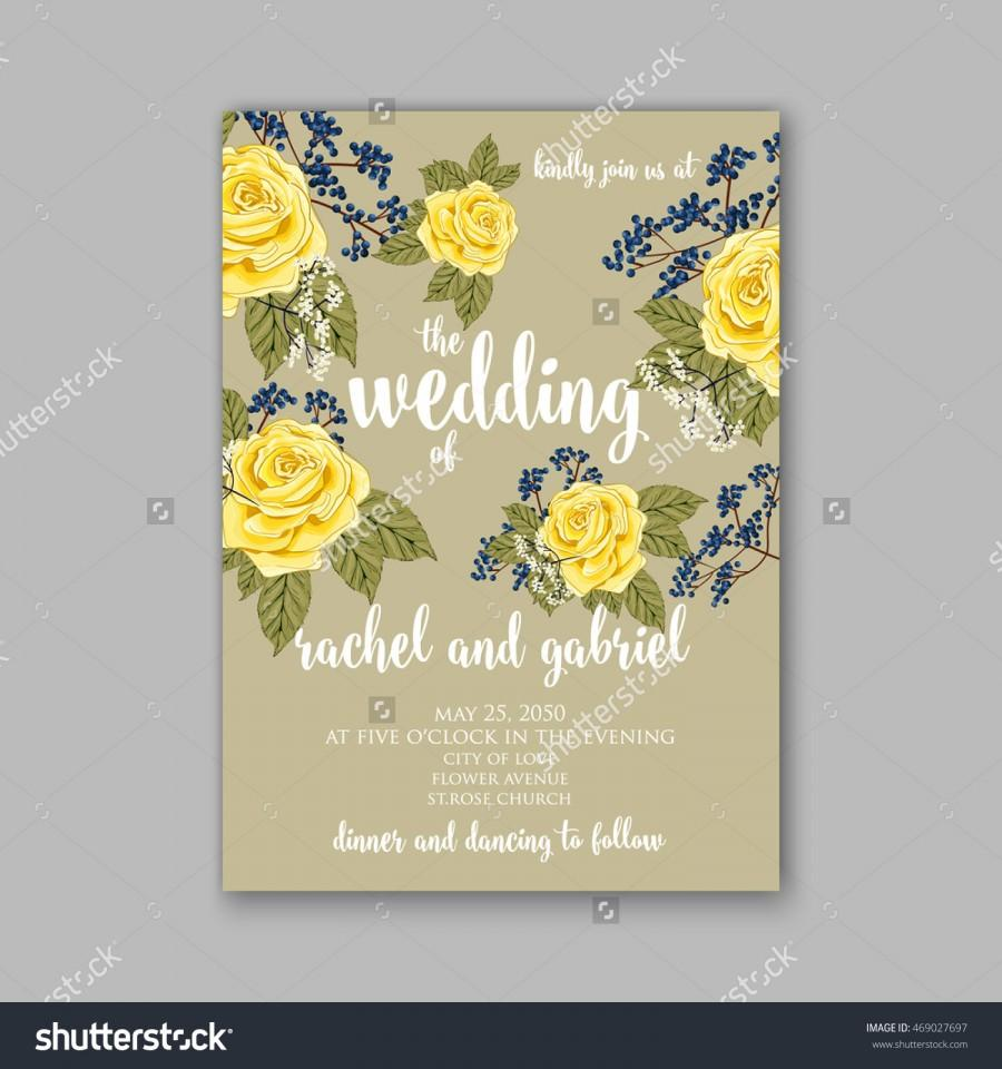 Beautiful wedding floral vector invitation sample card design beautiful wedding floral vector invitation sample card design frame template rose daisy red peony pink and green hydrangea camellia carnation stopboris Images