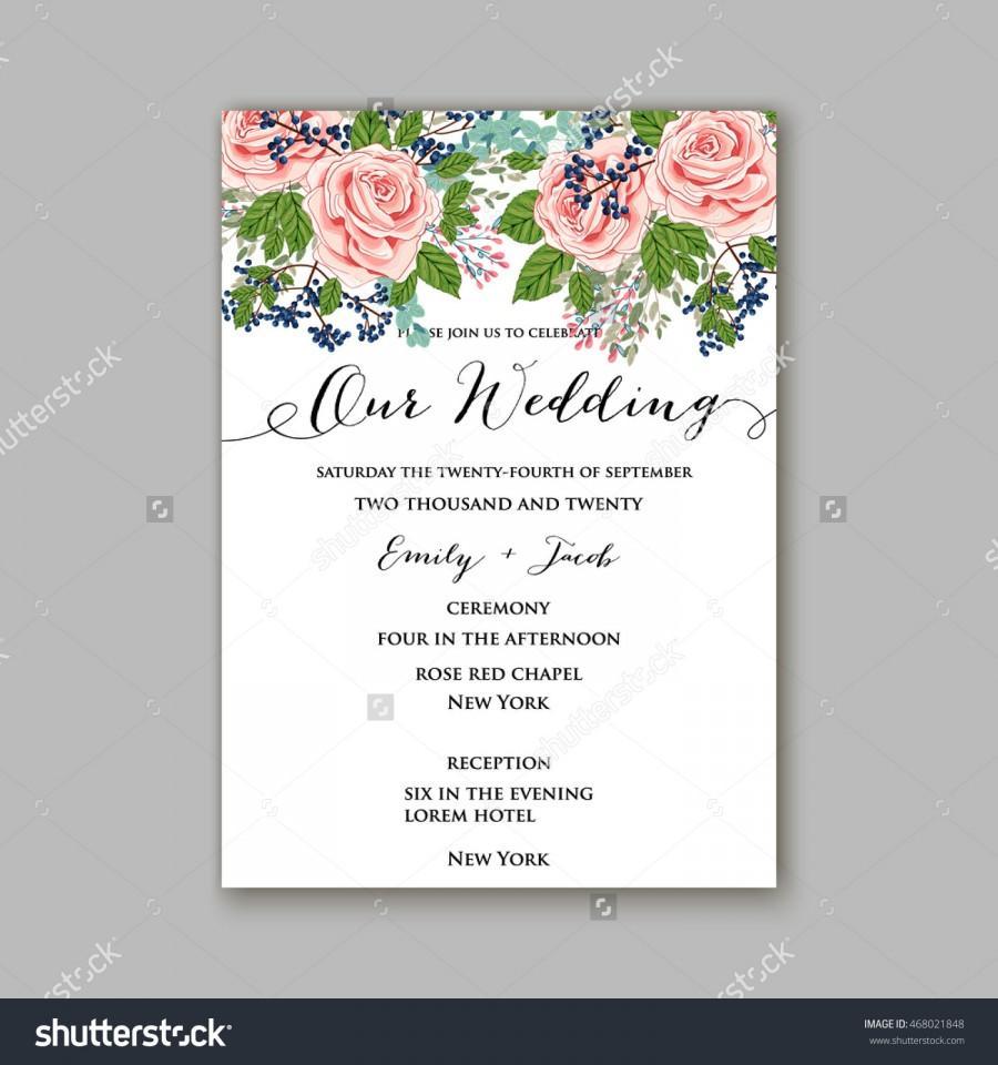 Wedding Invitation With Wreath Of Roses #2578976 - Weddbook