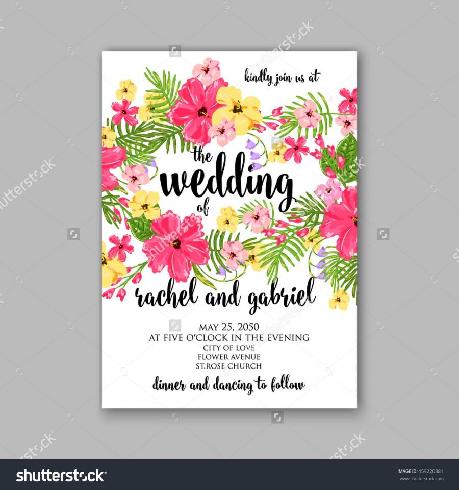Wedding Card Or Invitation With Abstract Floral Background Greeting