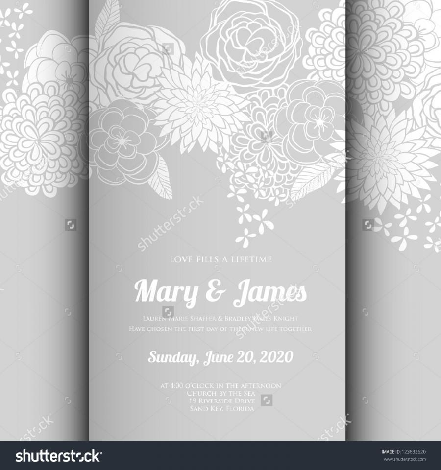Hochzeit - Wedding card or invitation with abstract floral background. Greeting postcard in grunge or retro vector Elegance pattern with flowers roses floral illustration vintage style Valentine anniversary